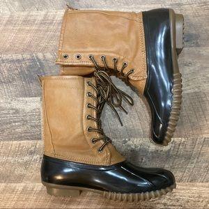 NWOT Madden Girl Flurryy Boots red & black lining